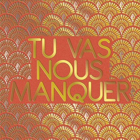 [Incognito] Carte De Souhaits - Tu Vas Nous Manquer Sp0010