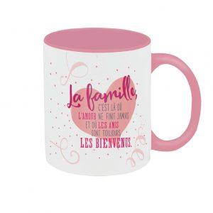 [Incognito] Tasse En Céramique - La Famille C'est Lá Où L'amour Ne...