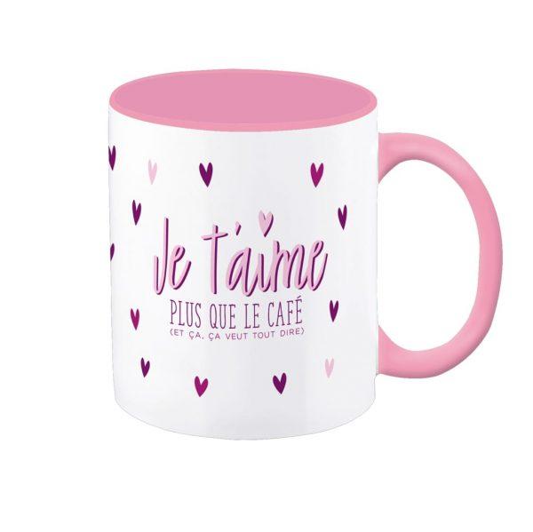 [Incognito] Tasse En Céramique - Je T'aime Plus Que Le Café (et...