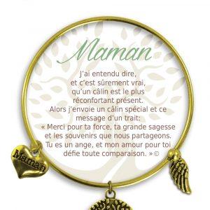 [Clock It To Ya] Bracelet De Charme Maman Or