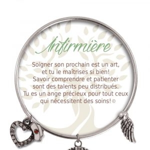 [Clock It To Ya] Bracelet De Charme Infirmière Argent