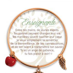 [Clock It To Ya] Bracelet De Charme Enseignante Cuivre