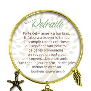 [Clock It To Ya] Bracelet De Charme Retraite Or