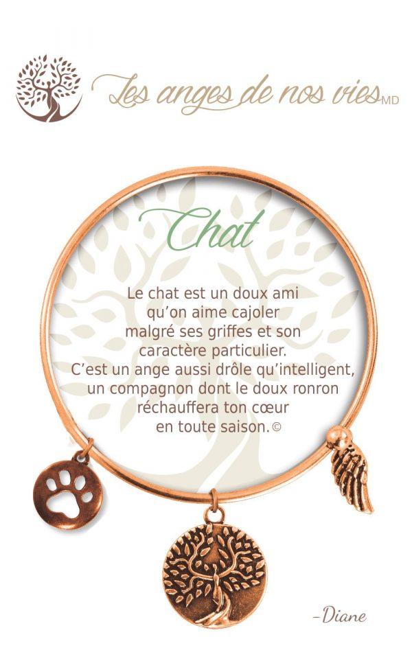[Clock It To Ya] Bracelet De Charme Chat Cuivre