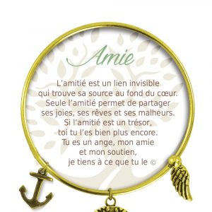 [Clock It To Ya] Bracelet De Charme Amie Or