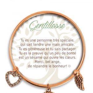 [Clock It To Ya] Bracelet De Charme Gentillesse Cuivre