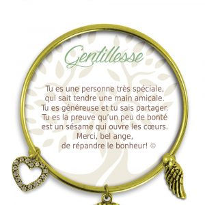[Clock It To Ya] Bracelet De Charme Gentillesse Or