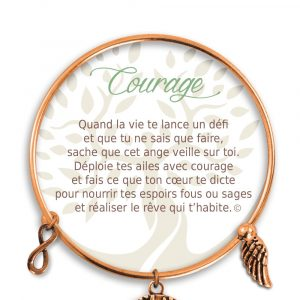 [Clock It To Ya] Bracelet De Charme Courage Cuivre